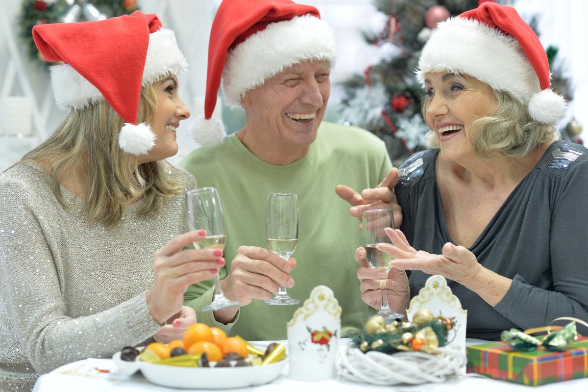 Besinnliche Weihnachtsfeier mit der Reisefamilie…